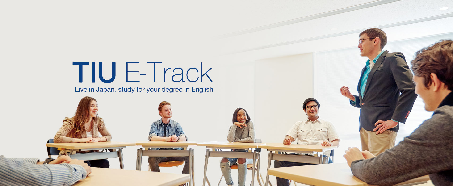 TIU E-Track Live in Japan, Study for your degree in English.